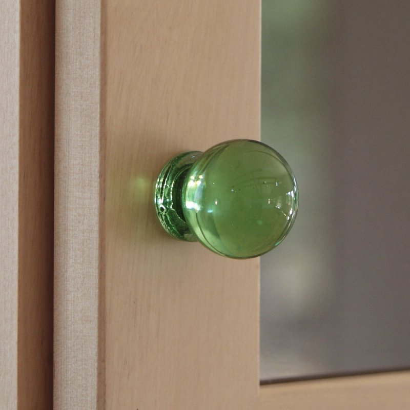 Green Glass Cabinet Knobs With Overmyer Drawer Knob Overmyers Threaded Glass Knobs Glassian