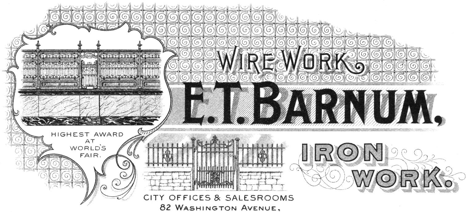 E T Barnum Wire Amp Iron Works Glassian