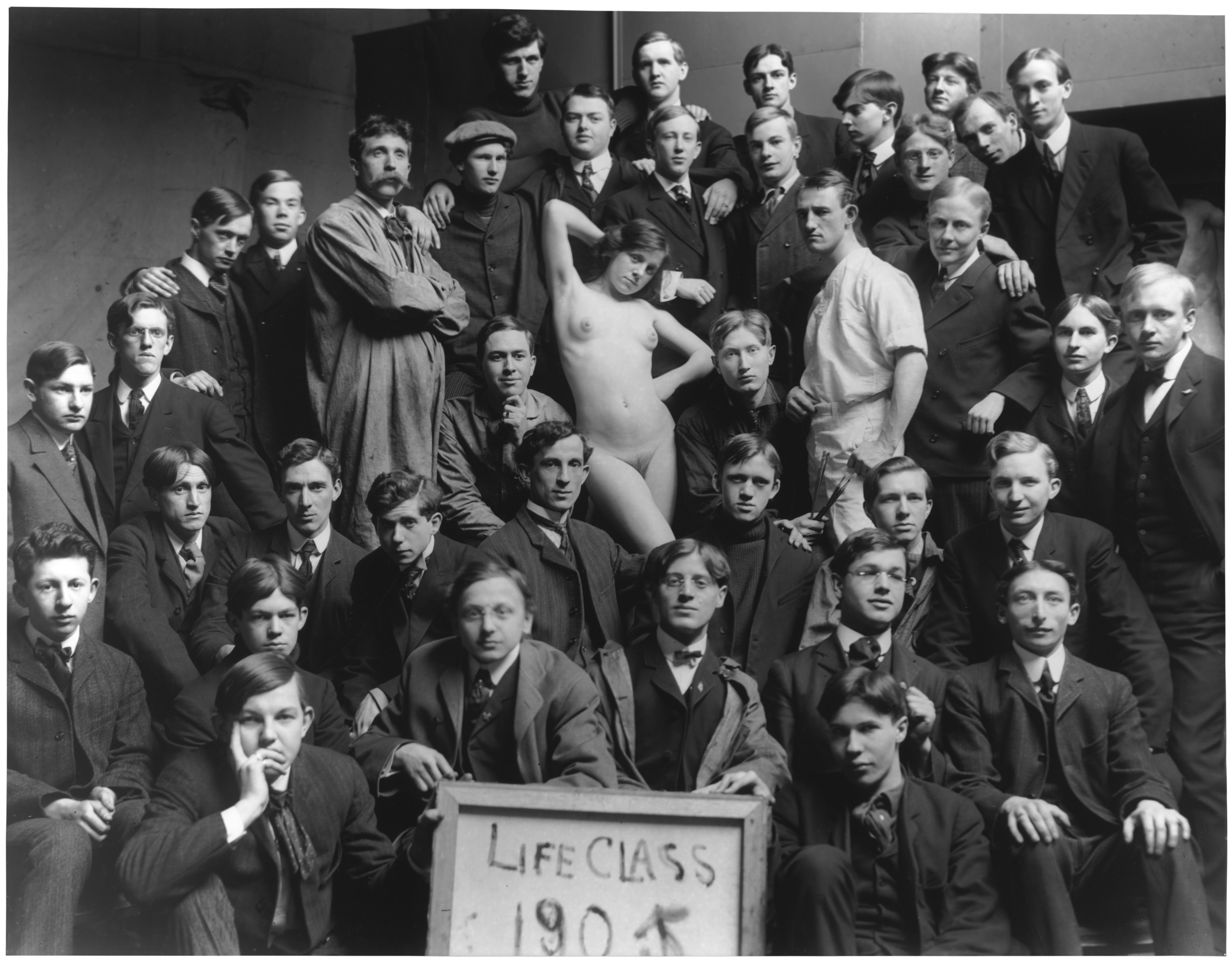 Life drawing class 183 group portrait with model 183 1905 183 art
